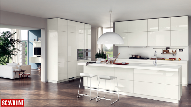 A Modern and Open Scavolini Kitchen